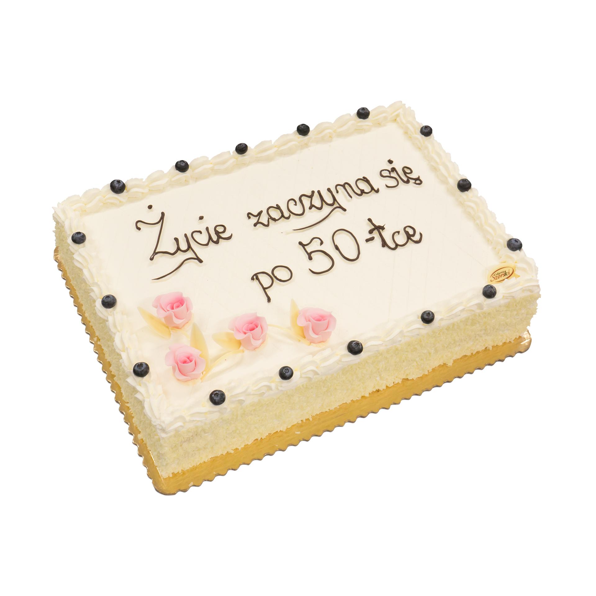 tort na 50-lecie