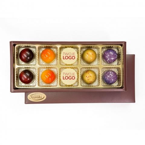czekoladki z logo