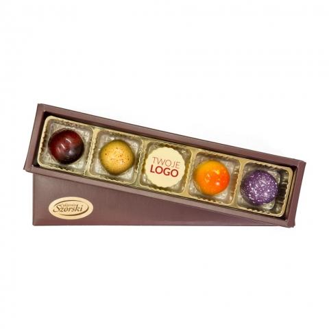 upominki firmowe, czekoladki z logo