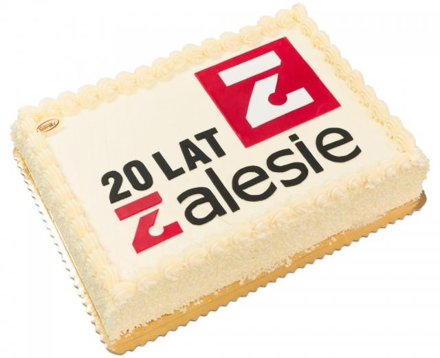Tort dla firmy z logo