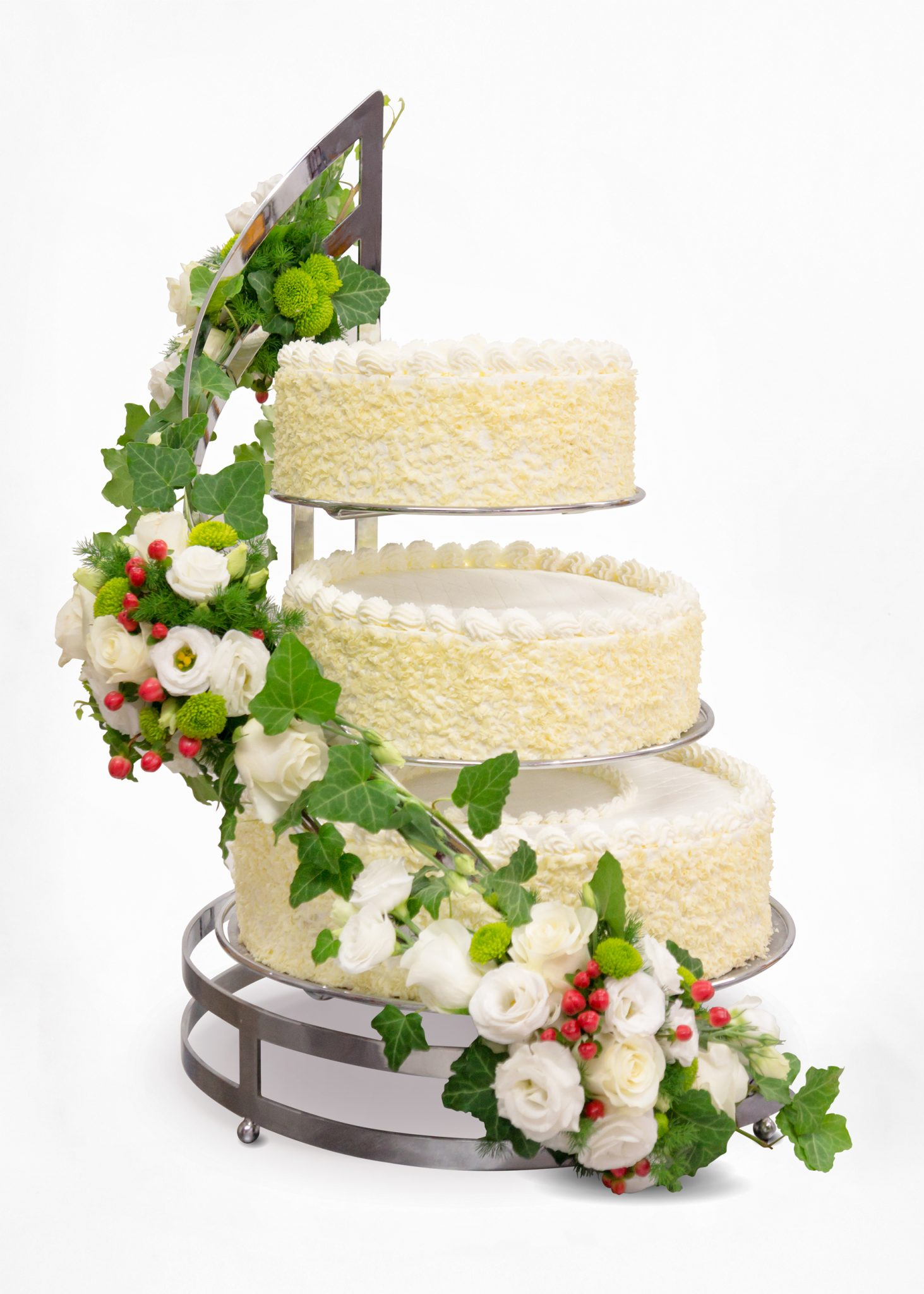 tort weselny na spirali