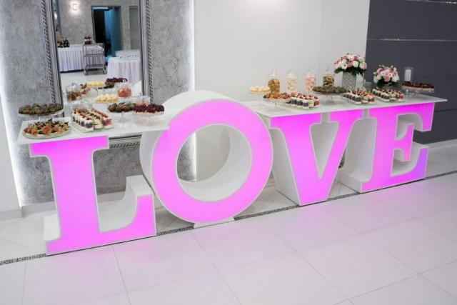 słodki stół love