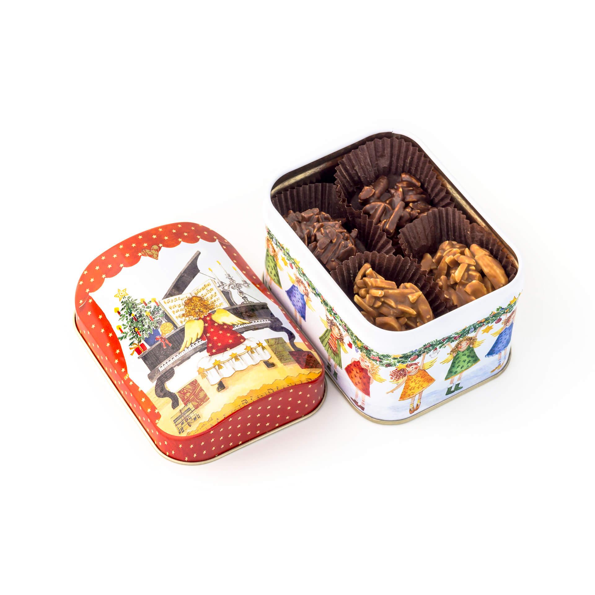 Puszka świąteczna z czekoladkami